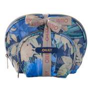 Oilily Kosmetiktasche Flower Field Cosmetic Bag Package 2-er Set Blueberry