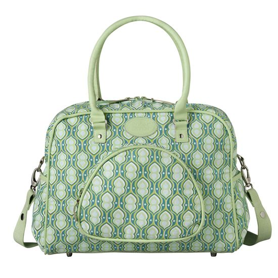 Room Seven Wickeltasche Retro Green Print Green Leather Sommer 2015