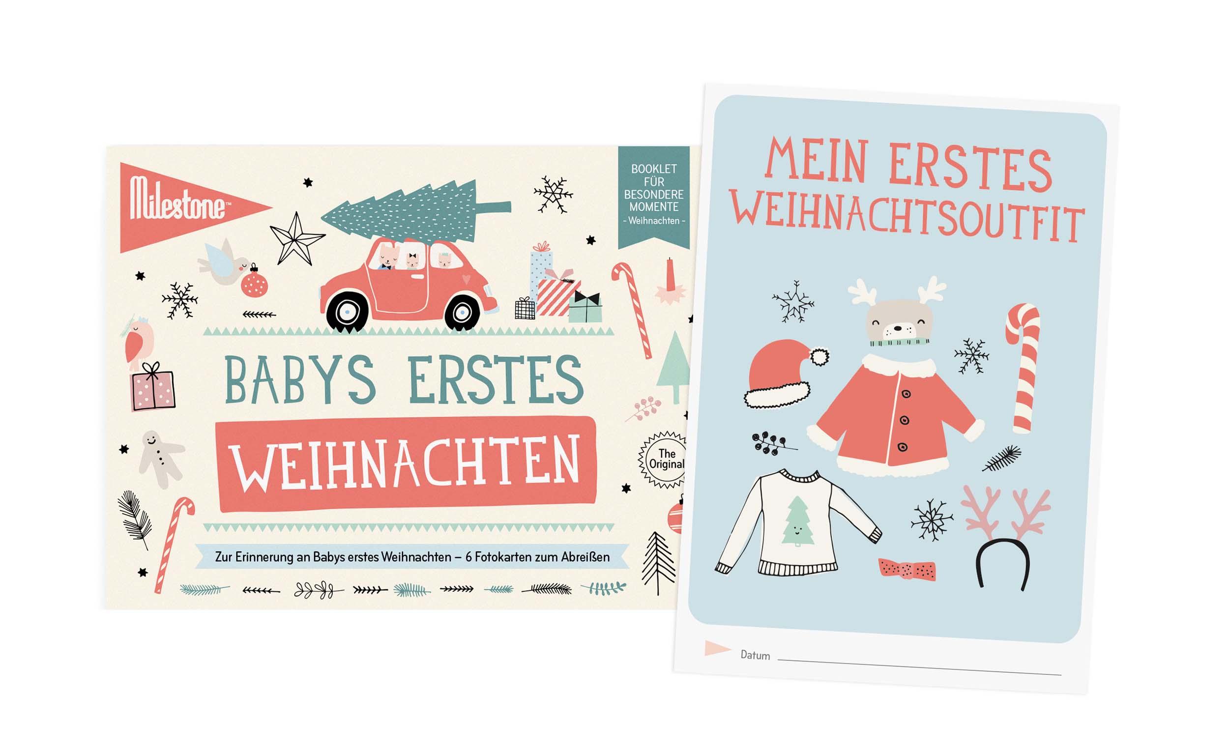 milestone booklet baby erstes weihnachten wickeltaschen. Black Bedroom Furniture Sets. Home Design Ideas