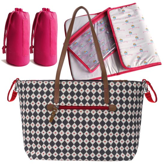 Pink Lining Wickeltasche Notting Hill Tote Diamonds & Hearts