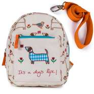 Pink Lining Kinderrucksak Mini Backpack It's a Dog's Life - Sausage Dog  mit Sicherheitsleine
