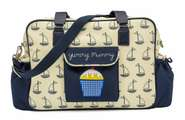 Pink Lining Wickeltasche Yummy Mummy Sailing Boats