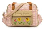 Pink Lining Wickeltasche Blooming Gorgeous Cream Bows on Pink