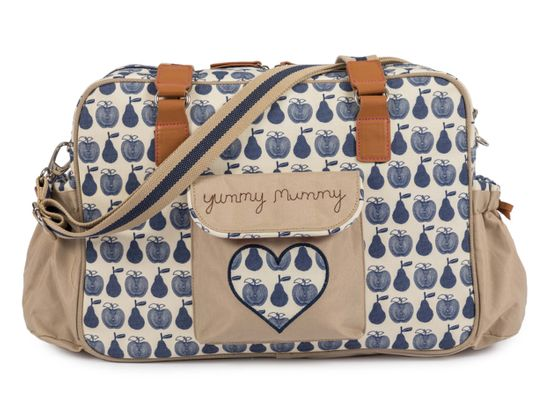 Pink Lining Yummy Mummy Wickeltasche Apples and Pears Blau