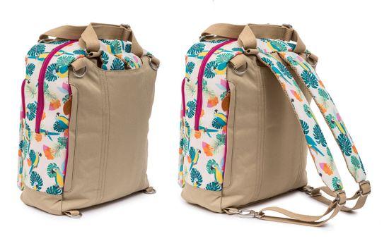 Pink Lining Wickelrucksack Wickeltasche Wonder Bag Parrot Cream – Bild 6