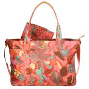 Oilily Wickelatsche Diaper Bag Botanic Pop Pink Flamingo
