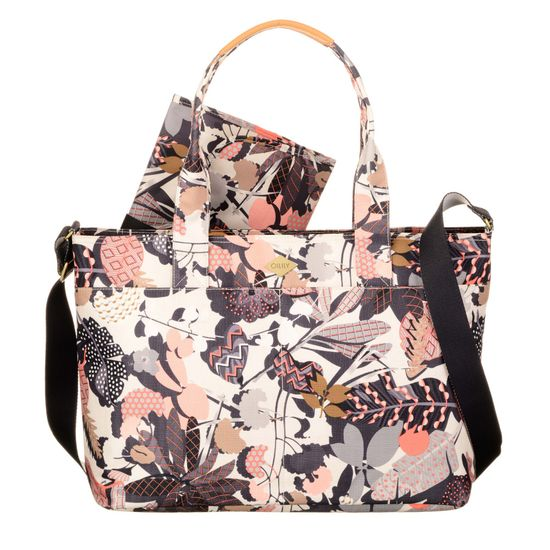 Oilily Wickelatsche Diaper Bag Botanic Pop Charcoal