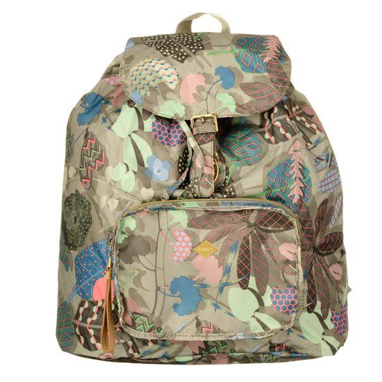 Oilily Rucksack Faltrucksack Folding Classic Backpack Botanic Pop Nori Green