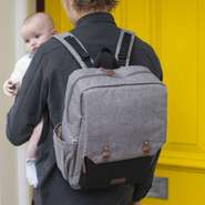 Babymel Wickelrucksack George Grey-Black BM1989