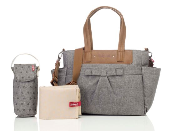 Babymel Wickeltasche Cara Bloom Grey BM2191
