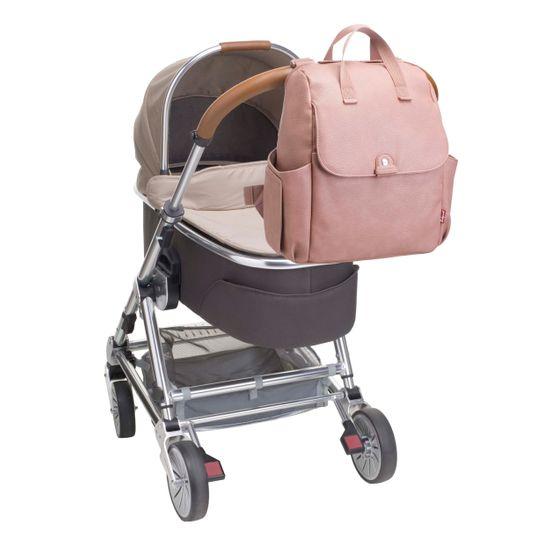 Babymel Wickelrucksack Wickeltasche 4-in-1 Robyn Dusty Pink Kunstleder BM3877 – Bild 5