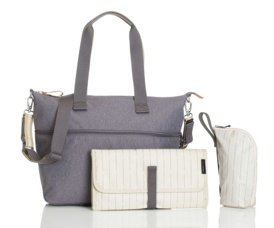 Storksak Wickeltasche Travel Expandable Tote Grey
