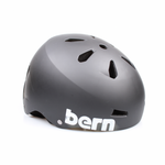 Bern Helm Macon Matte Black Distress Logo (Summer Liner)