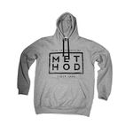 Method Hoodie Box Square Logo grey