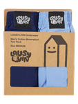 Lousy Livin Boxershorts Plain 2 Pack navy/port blue