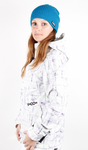 Volcom Snow Jacket Queens painted plaid white Ladies Bild 2