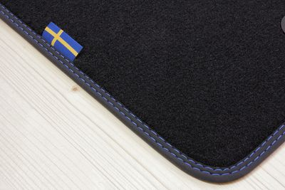 "Floor mats ""SWEDEN"" design for Volvo XC90 (Typ C) 1. Generation  (LHD ONLY)"