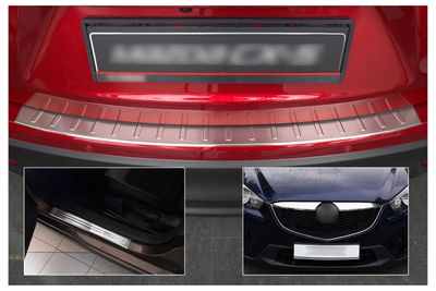 Stainless steel door sills bumper protector and grill bars fits for Mazda CX-5 2012-