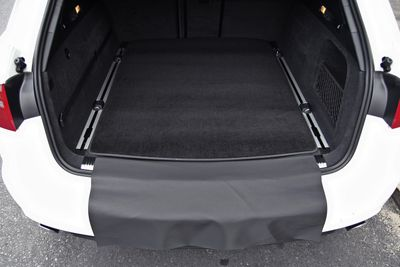2-part trunk mat with bumper protection fits for Audi A4 B9 Avant 2015-