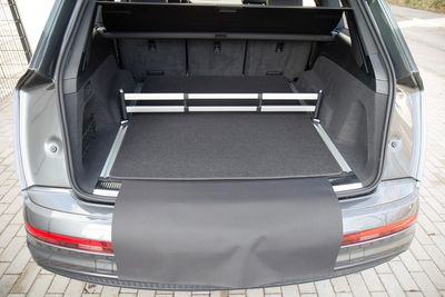 3-part trunk mat with bumper protection fits for Audi Q7 MK II 4M 2015-