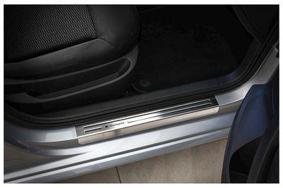 Plaques de seuil exclusives en acier inox adapté pour VW Touran II Typ 5T année 2015-