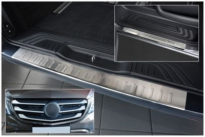 Door sills stainless steel grill bars and bumper protector fits for Mercedes V-Klasse Vito W447 2014