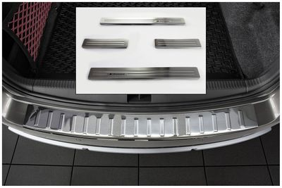 Door sills and bumper protector fits for Skoda Octavia 3 Scout 2014-