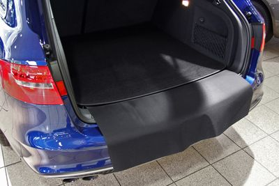 2-part trunk mat with bumper protection fits for Audi A4 B9 Avant without rails 2015-