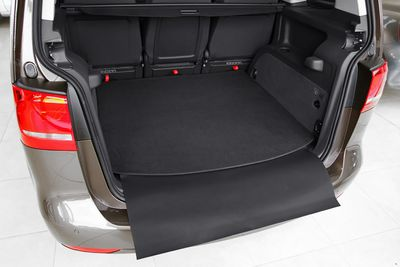 2-part trunk mat with bumper protection fits for VW Touran MK II Typ 5T 2015-