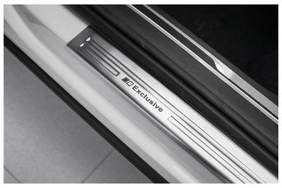 Exclusive soglie delle porte in acciaio inox adatto per VW Tiguan II anno 2016-