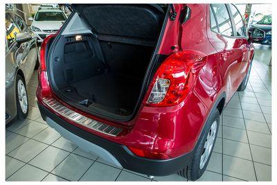 Protezione paraurti posteriore in acciaio inox adatto per Opel Mokka X anno 2016-