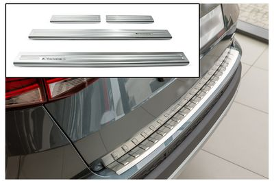 Door sills and bumper protector fits for Seat Ateca 2016-