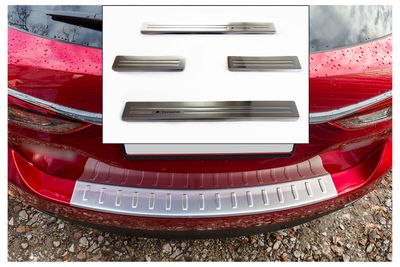 Entry sills and stainless steel bumper protectors fits for Mazda 6 2013-