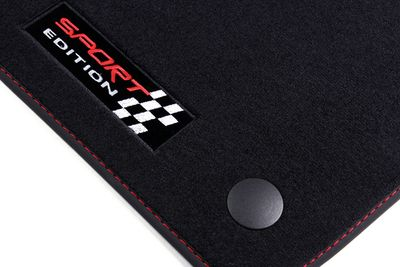 Sport Edition floor mats fits for Mercedes GLC Typ X253 09/2015- L.H.D only