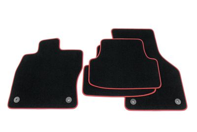 Edition GTI floor mats fits fits for Seat Leon MK III 5F 2012- L.H.D only