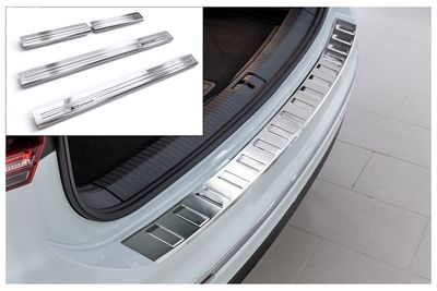 Door sills and bumper protector fits for VW Tiguan II 2016-