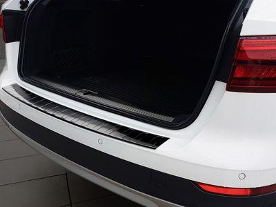 Protection des bords de chargement en acier inoxydable noir adapté pour Audi A4 B9 Allroad année 2016-