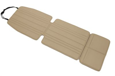 Beige child seat base, car seat liner, car seat base, car seat protector, seat cover, backrest protector