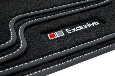Exclusive Line tapis de sol de voitures adapté pour Audi A8 D4 4H année 2010-2017