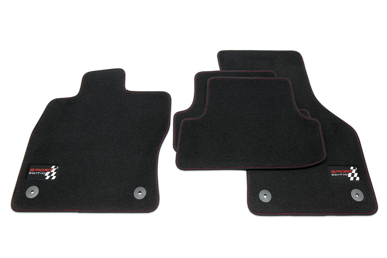 sport edition tapis de sol de voitures pour seat leon 3 iii 5f sc ann e 2013 tapis de sol pour. Black Bedroom Furniture Sets. Home Design Ideas