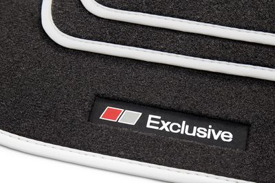 Exclusive Line floor mats fits for Audi A3 8P 8PA from 2003-2012 L.H.D only