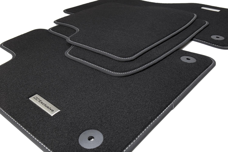 tapis de sol pour voiture et logo en acier inoxydable pour. Black Bedroom Furniture Sets. Home Design Ideas