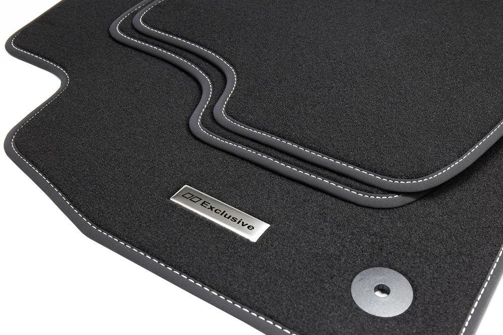 tapis de sol pour voiture et logo en acier inoxydable pour vw golf 4 iv 1997 2003 tapis de sol. Black Bedroom Furniture Sets. Home Design Ideas