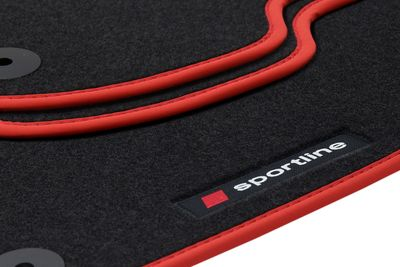 Sportline floor mats fits for Suzuki SX4 Classic from 2006-2014 L.H.D only