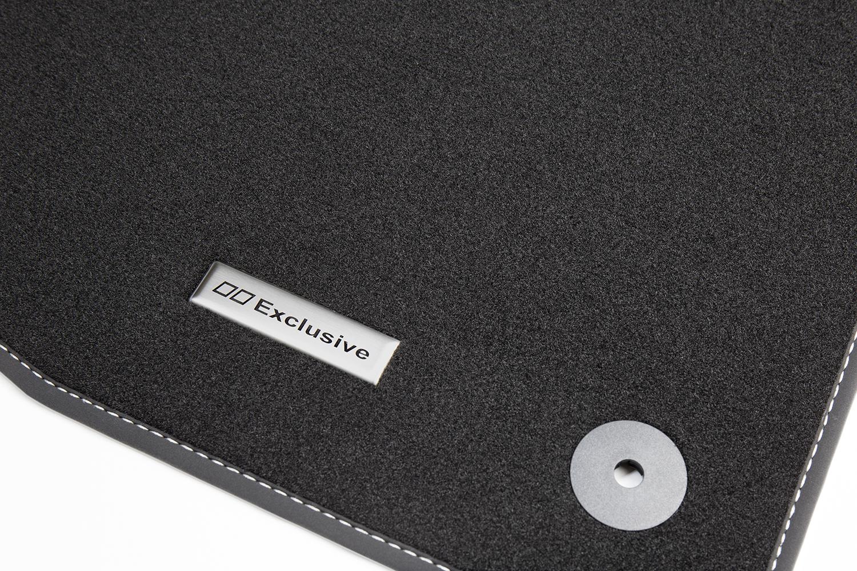 tapis de sol pour voiture et logo en acier inoxydable pour vw golf 5 6 plus ann e 2005 2014. Black Bedroom Furniture Sets. Home Design Ideas