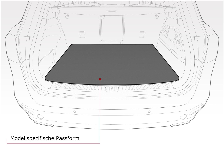 Kofferraummatte mit Ladekantenschutz für Jaguar XF X260 Sportbrake ab Bj 2017