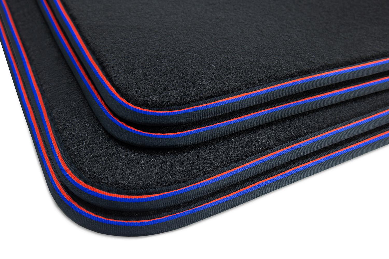 tapis de sol au look sportif pour bmw x3 g01 ann e 2018 tapis de sol pour bmw professional line. Black Bedroom Furniture Sets. Home Design Ideas