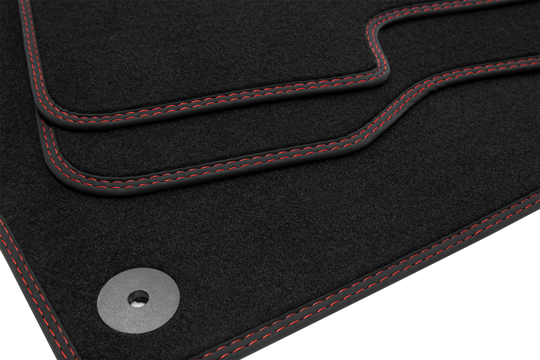 Doppelziernaht Fußmatten für Toyota Verso ab Bj 2009