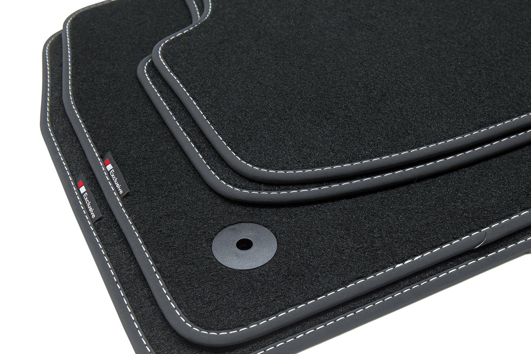Auto-Fußmatten Supreme schwarz für Peugeot 508 2011-2018 Autoteppiche