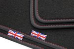 Exclusive Union Jack floor mats fits for Range Rover Velar Typ L560 from 2017- L.H.D only 001